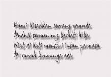 Contoh Syair Surat Kapal Indragiri Riau